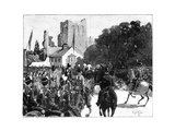 Arrival of Queen Victoria at Kelso, Scotland, 1887 Giclee Print by William Barnes Wollen