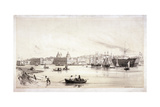 View of Greenwich across the River Thames, London, C1841 Giclee Print by William Parrott