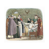 St Anselm Reluctantly Accepting the Archbishopric of Canterbury, 1093 Giclee Print