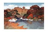 Autumn in Hundred Flower Garden at Muko-Jima, C1900-1950 Giclée-Druck von Yoshida Hiroshi