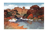 Autumn in Hundred Flower Garden at Muko-Jima, C1900-1950 Giclee Print by Yoshida Hiroshi