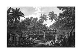 A Human Sacrifice in a Morai, in Otaheite; in the Presence of Captain Cook, C1773 Giclee Print by John Webber
