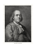 Benjamin Franklin, American Statesman, Printer and Scientist, 20th Century Giclee Print by Joseph Siffred Duplessis