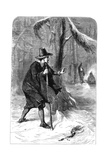 Roger Williams in the Forest, America, C1630S Giclee Print by  Whymper