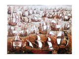 The Spanish Armada Which Threatened England in July 1588 Giclee Print