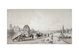 Millbank, Westminster, London, 1841 Giclee Print by William Parrott