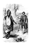 Reception of a Narragansett Warrior, Massachusetts, C1630S Giclee Print by  Whymper