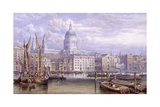 St Paul's from Bankside, London, 1883 Giclee Print by William Richardson