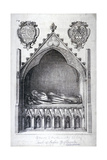 The Tomb of Avaline, Countess of Lancaster, Westminster Abbey, London, 1666 Giclee Print by Wenceslaus Hollar