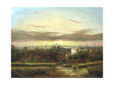 View from Above Wandsworth, Westminster and St Paul's in the Distance' C1849-1866 Giclee Print by William James Grant