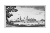 View of Windsor Castle, Berkshire, 1644 Lámina giclée por Wenceslaus Hollar