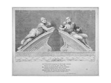 Sculptures Outside the Entrance to Old Bethlehem Hospital, Moorfields, City of London, 1783 Giclee Print by William Sharp