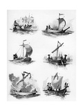 Ships of the Hanseatic League of the 14th and 15th Century Giclee Print by Willy Stower