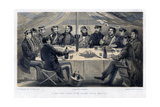 A Christmas Dinner on the Hights before Sebastopol, C1850 Giclee Print by William Simpson