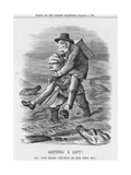 Getting a Lift, 1884 Giclee Print by John Tenniel