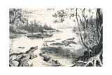 David Livingstone Navigating the Zambezi, Africa, 1852-1864 Giclee Print