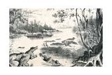 David Livingstone Navigating the Zambezi, Africa, 1852-1864 Giclee Print