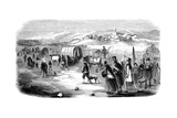 Mormons on the Trek from Illinois to Utah, 1846 Giclée-tryk
