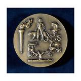 Medal Commemorating Jean Baptiste De Monet, Chevalier De Lamarck, French Biologist, 20th Century Giclee Print