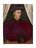 King Charles VII of France (1403-146), C1445 Giclee Print by Jean Fouquet