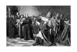 Luther at the Diet of Worms, 1882 Giclée-tryk af Emile Delperee
