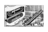 Escalator at the Pennsylvania Railroad Company's Cortland Street Station, New York, 1893 Giclee Print