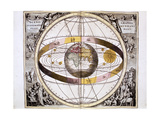 Ptolemaic (Geocentric/Earth-Centre) System of the Universe, 1708 Giclee Print