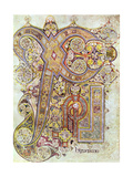 Monogram Page from the Book of Kells Christi Auteum Generatio, C800 Giclée-tryk