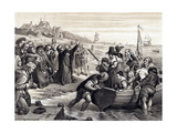 The Pilgrim Fathers Leaving Delft Haven on their Voyage to America, July 1620 Giclee Print by Charles West Cope