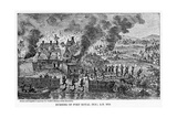 Burning of Port Royal (Nova Scoti), Ad 1613 Giclee Print