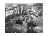 The Viking Attack on Paris, 885 (1882-188) Giclee Print