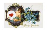 To My Valentine, American Valetine Card, 1907 Giclee Print