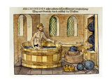 Archimedes in His Bath, 1547 Giclee Print by Archimedes Archimedes