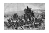 Hannibal Crossing the Rhone, 218 BC (1882-188) Giclee Print