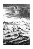 Robinson Crusoe Shipwrecked at Yarmouth, C1719 Giclee Print