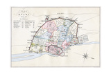 Plan of Delhi, India, 1857-1858 Giclee Print by  Guyoy & Wood
