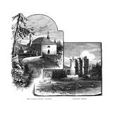 The Parish Church, Crathie, and Braemar Castle, Scotland, 1900 Giclee Print