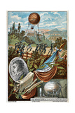 Transport of the Balloon 'Entreprenant' from Mauberge to Charleroi, 1794 Giclee Print