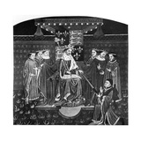 Henry VI Presenting a Sword to John Talbot, Earl of Salisbury, C1445 Giclee Print