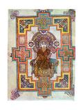 Portrait of Saint John from the Book of Kells, C800 Giclée-tryk