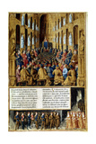 Pope Urban II Presiding over the Council of Clermont, France, 1095 (C149) Giclee Print