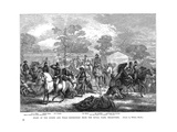 Burke and Wills Expedition Setting Out from Royal Park, Melbourne, Australia, August 1860 Giclée-tryk