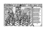 Pope Urban II Presiding over the Council of Clermont Which Launched the First Crusade, 1095 (152) Giclee Print