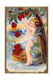 If You'D Only Be My Valentine, American Valentine Card, 1910 Giclee Print