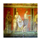 Fresco from the Villa of the Mysteries, Pompeii, Italy, C1st Century Bc-1st Century Ad Giclee Print