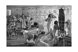 Scene of Mourning at the Funerary Temple of Tutankhamun, Egypt, 1325 BC (1933-193) Giclee Print by Fortunino Matania