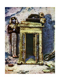 Golden Shrine in the Antechamber of Tutankhamun's Tomb, Egypt, 1933-1934 Giclee Print by Harry Burton