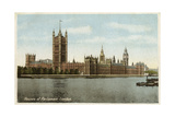 Houses of Parliament, Westminster, London, 20th Century Giclee Print