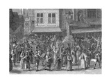 Procession of the League (La Ligu), Paris, 24 May 1590 Giclee Print by Jan Brueghel the Younger