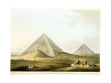 Pyramids at Giza, Egypt, 4th Dynasty, Old Kingdom, 26th Century BC Giclee Print by Luigi Mayer